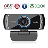 Spedal Full HD Webcam 1080p, Schönheit Live Streaming Webcam, Computer Laptop Kamera für OBS Xbox XSplit Skype Facebook, Kompatibel für Mac OS Windows 10/8/7