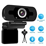1080P Full HD Webcam mit Webcam Cover,Computer Laptop Kamera für Konferenz und Video Call,Pro Stream Webcam mit Plug and Play Video Calling,Built-in Mic