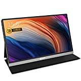 "Portable Monitor, CORPRIT Monitor USB-C Monitor, 15,6"" Tragbarer Monitor 1920X1080 IPS Gaming Monitor mit Type-C HDMI Anschlüsse für PC, Handy, Xbox, PS4, PS3, inkl.Schutzhülle"