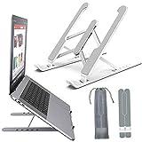 Laptop Ständer, Notebook ständer, Tablet Ständer Höhenverstellbar für i-Pad Faltbar tragbar belüftet Desktop-Laptophalter 6-stufige Winkel Notebook-Halterung für alle Laptops und Tablets
