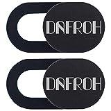 DAFROH Webcam Cover Slide Blocker für Laptops, MacBook Pro, iPad, iMac, Tablets PC, Echo Spot und Universal Camera Cover Sticker zum Schutz Ihrer Privatsphäre (2PCS: SCHWARZ)