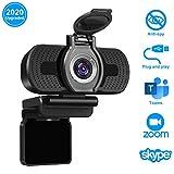 LarmTek Full HD Webcam 1080p Videokamera mit Webcam-Abdeckung,USB Webcam mit Eingebautes Mikrofon,Mini Plug and Play für Desktop,Notebook,ideal für Konferenzen,Live Übertragungen und Videoanruf