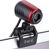 HD Webcam, 1080P HD USB PC Webcam Web Cam Camera,Horizontal 360 ° Drehen USB 2.0 Webkamera Mit Digital Mikrofon Für PC Laptops Desktop Videotelefonie,Schwarz
