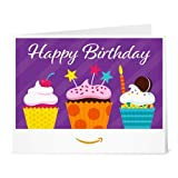 Amazon.de Gutschein zum Drucken (Happy Birthday Cupcakes)