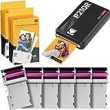 KODAK Mini 2 Plus Retro + 68 Bilder - mobiler Fotodrucker für Smartphone (iPhone & Android), 5.4x8.6 und Sofortbilder in Premium-Qualität unterwegs mit dem Handy drucken, tragbarer Drucker +68 Foto