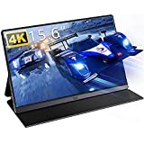 4K Portable Monitor- IVV 15.6' Tragbarer Monitor IPS Bildschirm, UHD 3840x2160 Gaming Monitor, für Laptop, Handy, PC, Pi, Xbox One Switch PS3 PS4 Pro PS5