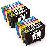 feier 10er-Pack 603 XL Ersatz für Epson 603 603XL Tintenkartuschen Funktionieren für Epson-Drucker Expression Home XP-2100 XP-3100 XP-4100 XP-2105 XP-3105 XP-4105 Workforce WF-2810 WF-2830 und WF-2835