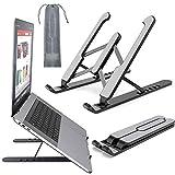 Laptop Ständer, Ständer für Notebook, Tablet Ständer, Ständer für Telefon Desktop Laptophalter 6-stufige Winkel verstellbare Höhe Notebook-Halterung für alle Laptops und Tablets