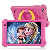 Surfans Kinder-Tablet, 2 GB RAM + 32 GB ROM, 7-Zoll-IPS-FHD-Display, 1080P Android 10.0 WiFi-Tablets für Kinder Kids Jungen Mädchen, Pink …