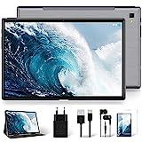 Tablet 10 Zoll Android 10 Original, Ultraschnelles Dual 4G LTE & 5G WiFi, Octa-Core Prozessor, 1920 * 1200 IPS, YESTEL T5 LTE Tablets 64 GB, 128GB Erweiterung, GPS/Bluetooth/Face ID/OTG, Weltraumgrau