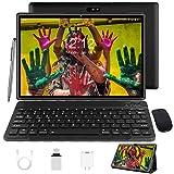 Tablet 10 Zoll Android 10 Tablet PC Mit Tastatur 4G LTE SIM, 3 GB RAM + 32 GB ROM, Quad-Core-Prozessor, GMS-Zertifizierung, 8000 mAh, 1080p Full HD IPS-Display, WLAN/Bluetooth/GPS Windows Tablet