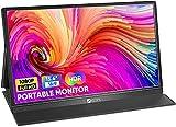 Portable Monitor, ARZOPA 15.6 Zoll Tragbarer Monitor, 1920x1080 Full HD, 100% SRGB IPS Externer Mobiler Bildschirm mit HDMI/Typ-C/USB-C, für Laptop/PC/Mac/PS4/Xbox/Telefon
